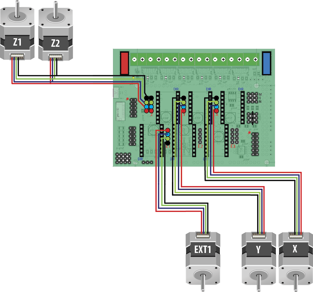 Radds Electronics For 3d Printer Stepper Motor Driver Circuit Using Transistor Wiring Sample